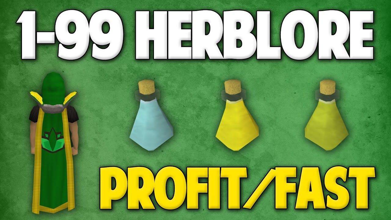 Herblore - an expensive, bank breaking skill... Or, is it? A guide to making money with Herblore.